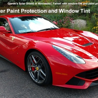 Ferrari_tint and paint protection