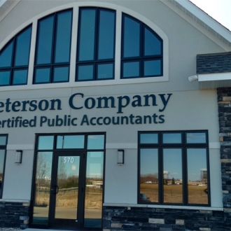 Peterson Company with window tint.